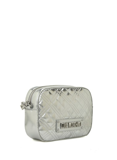 Love Moschino Messenger / Askılı Çanta Gümüş
